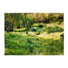 Field of Wildflowers 5'x7'Area Rug