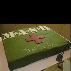 MASH grooms cake