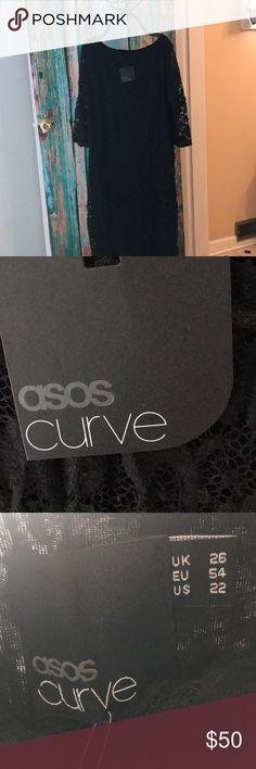 ASOS curve dress Beautiful black lace dress ASOS Curve Dresses Midi