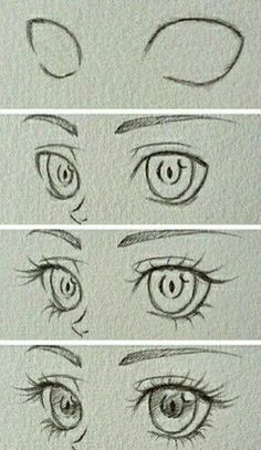 Manga Drawing Tips Design to draw - Draw Pattern - Eyes~ Art Drawings Sketches Simple, Pencil Art Drawings, Cool Drawings, Eye Drawings, Drawing Faces, Cute Eyes Drawing, Sketches Of Eyes, Easy Eye Drawing, Cartoon Eyes Drawing