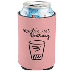 21st Birthday - KOOZIE Can Cooler - FunnyShirts.org - Coincidence?! I THINK NOT.