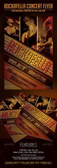 Electro Concert Flyer Template Concert flyer, Flyer template and