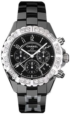 My beautiful black, diamond, Chanel watch that I got at Fred's in Beverly  Hills, 90210...