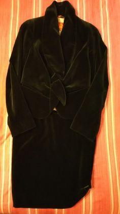 8c1d6f50 Vivienne Westwood Black Red Label Velvet and Jacket 42 It Small Skirt Suit  Size 4 (