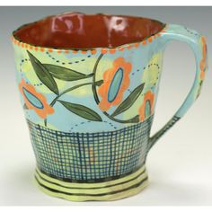 Nancy Gardner.Love coffee mugsof different shapes and designs.  Need this one.