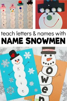 Name Snowman Activity and Free Printable