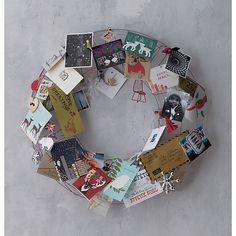 wire wreath from CB2 - so many uses, but I like this one as a Christmas card holder wreath. Lots of other cool ideas on their site.