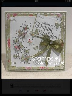 Birthday Wishes, Birthday Cards, Stamps By Chloe, Happy Wishes, Crafters Companion, Butterfly Cards, Card Making Inspiration, Creative Cards, Goodies