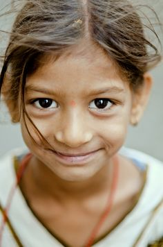 Small smile from a small girl, Udaipur, India (by B.Bubble)           via Teresa Painter