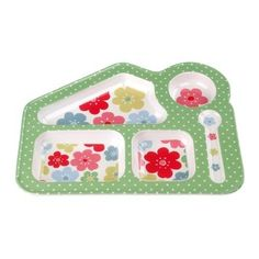 for G! I used to love eating from my sectioned smurf plates.  Cath Kidtson