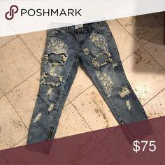 One teaspoon destroyed jeans 27 Never worn size 27 ankle zip One Teaspoon Jeans Skinny