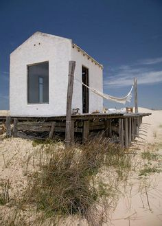a beach hut in uruguay