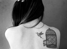 Bird cage tattoo, amazing