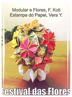 """""""Dança das Flores"""", de Flaviane Koti, dobrado em papel personalizado feito por Vera Young especialmente para este Modular, numa composição feita a quatro mãos... São 12 flores diferentes em um mesmo modular. que ganham cor e vida através das técnicas digitais. Uma cor para cada flor!"""