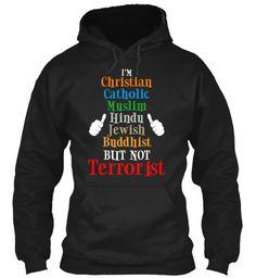 I Am T Shirt Hoodie Black Sweatshirt Front