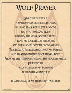 Spirit of Wolf prayer art print  #shopifyfathersday