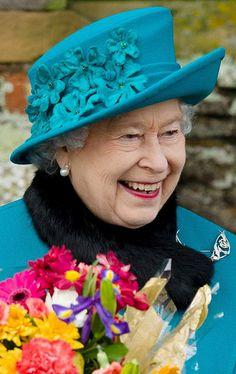 Queen Elizabeth, December 25, 2012 in Rachel Trevor Morgan | The Royal Hats Blog