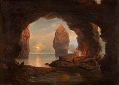 Notturno In Grotta Con Veduta Dei Faraglioni (Franz-Ludwig Catel) Painting, Art, Kunst, Art Background, Painting Art, Paintings, Performing Arts, Painted Canvas, Drawings