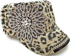 Sister Hippie - Leopard Bling Cadet Hat, $39.00 (http://www.sisterhippieboutique.com/leopard-bling-cadet-hat/)
