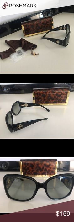 Tory Burch Elegant Sunglasses Tory Burch Sun Glasses with Branded Case & Added Branded Assesories Tory Burch Accessories Sunglasses