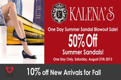 Sale at both locations: 1526 Commercial Drive, Vancouver  929 Mt Hwy, North Vancouver www.kalenashoes.com One Day Only, Location, Vancouver, Sandal, Commercial, Summer, Sandals, Shoes Sandals, Summer Time
