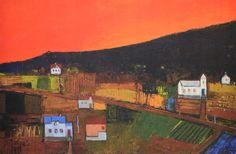 Når kvelden står rød, Gunn Vottestad Wonderwall, Painters, Denmark, Norway, Sweden, Landscapes, Artists, Fine Art, Projects