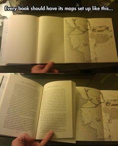 """""""Los #mapas en los #libros deberían estar así... para no perder detalle mientras lees"""""""
