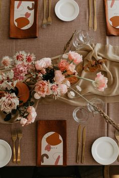 Coffee Coloured Silk Runners For Wedding Styled By Nomad Styling