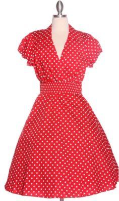 Polka dot pin up dress   Rockabilly bridesmaid idea