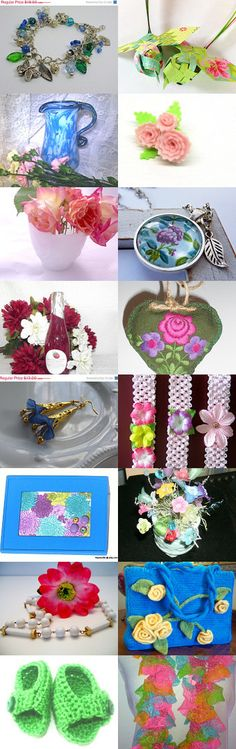 A Walk in the Garden~Satet/CIJ Duo Blitz Treasury by Kathy Carroll on Etsy--Pinned with TreasuryPin.com  #summertrends