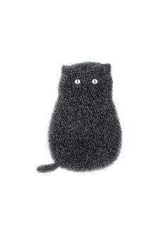 Cat Print  The Furry Thing Series  Kitty No.1 A4 door boandfriends