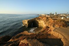 Sunset cliffs in Cali. Spent many a sunset here. Beautiful.
