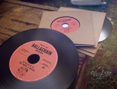 Surprise & delight your guests with these vintage-style Vinyl CDs, recorded with the Bride & Groom's very own selection of special songs. http://www.vintagevinylcds.com/wedding-favors-bomboniere/red-vintage-vinyl-cd-wedding-invite-favor