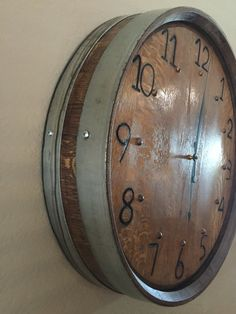 Branded Wine Barrel Clock by CCBarrels on Etsy