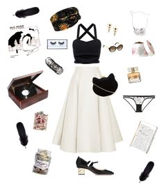 """""""The Jazz Singer"""" by jessicaoftheoaks ❤ liked on Polyvore featuring Roksanda, New Look, Nicholas Kirkwood, Fresh, Louis Vuitton, L'Agent By Agent Provocateur, Mineheart, Givenchy, Huda Beauty and Skinnydip"""