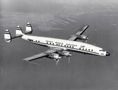 "retrowar: "" Trans World Airlines L-1649A Starliner in flight. """