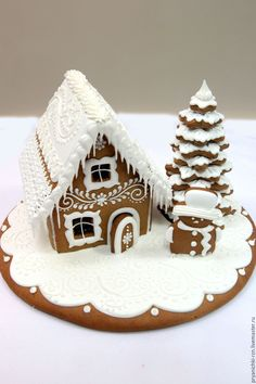 Homemade Gingerbread House, Gingerbread House Designs, Christmas Gingerbread House, Gingerbread Cookies, Gingerbread Houses, Christmas Sugar Cookies, Christmas Sweets, Christmas Cooking, Christmas Mood