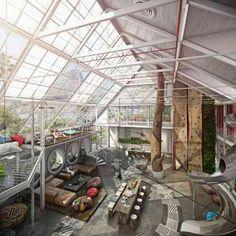 Un loft très lumineux et spacieux, visualisation : Sean Hockly