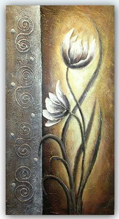 China Hand Brush Stroke Canvas Oil Painting - Modern Abstract Floral Classical, Find details about China Giclee, Painting from Hand Brush Stroke Canvas Oil Painting - Modern Abstract Floral Classical - Suzhou Baocheng Industries Co. Simple Oil Painting, Oil Painting On Canvas, Watercolor Paintings, Canvas Art, Clock Art, Encaustic Art, Painting Inspiration, Flower Art, Art Projects