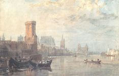 View View of Cologne on the Rhine by Joseph Mallord William Turner on artnet. Browse upcoming and past auction lots by Joseph Mallord William Turner. Beautiful Paintings, Beautiful Landscapes, Romanticism Artists, Turner Painting, Teaching Drawing, Joseph Mallord William Turner, Royal Academy Of Arts, Watercolor Techniques, Claude Monet
