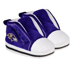 Baltimore Ravens Logo High Top Baby Slippers