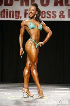 My second time on stage as an IFBB Fitness Professional. After only competing twice I qualified for the Fitness Olympia... HARD work ALWAYS pays off!