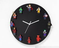 sloped Lego bricks bonded to the clock face, choice of colours. Boys Lego Bedroom, Lego Bedroom Decor, Box Room Bedroom Ideas, Bedroom Fan, Boys Bedroom Paint, Kids Room Paint, Boy Room, Playroom, Kids Rooms