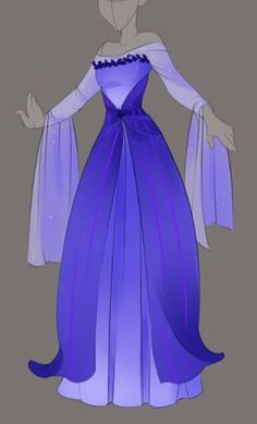 :: Commission April Outfit Design :: by VioletKy on DeviantArt Dress Drawing, Drawing Clothes, Character Costumes, Character Outfits, Fashion Design Drawings, Fashion Sketches, Vestidos Anime, Fantasy Gowns, Anime Dress