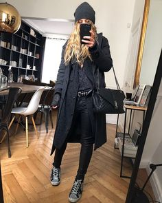 Black Raincoat, Raincoat Outfit, Autumn Winter Fashion, Fall Winter, Winter Style, Quilted Bag, Pull, Glamour, Street Style