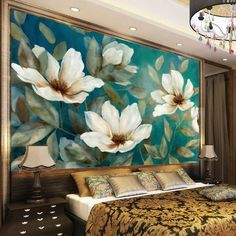 Details about Profound Peony Full Wall Mural Photo Wallpaper Printing Home Kids Decoration – Wall Paper Kids Wall Murals, Living Room Murals, Mural Wall Art, Mural Painting, Paintings, Fotos Wallpaper, Flower Wallpaper, Wall Wallpaper, Flower Mural