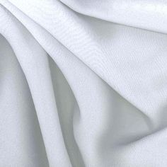 Chiffon Fabric White from @fabricdotcom  This sheer chiffon fabric has great drape and is perfect for blouses, dresses and even decorating for special occasions.