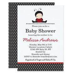 #black - #Adorable Ladybug Baby Shower Invitation