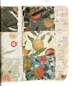 A page from the Masters sketchbook- Wm Morris textile designs