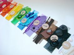 Quilted color sorting mat